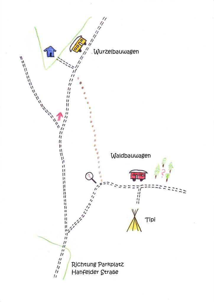 Lageplan Waldkindergarten