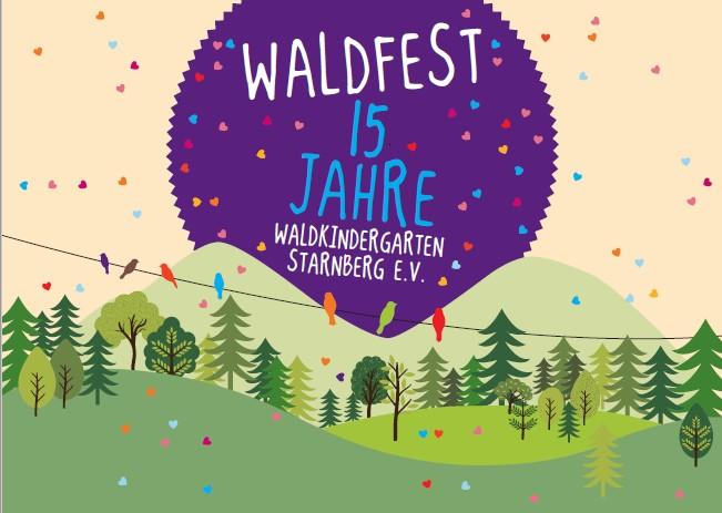 Einladung Waldfest - Titelseite